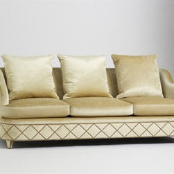 Jan Showers Palazzo Sofa - This luxurious sofa will bring your room to the level of a fabulous home on The Grand Canal of Venice, with its luxe upholstery and regal detailing.