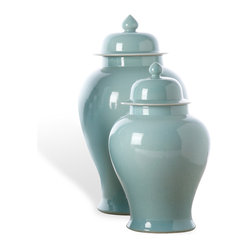 Asian-Inspired Porcelain Temple Jar Set