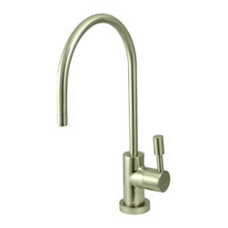 Kingston Brass - Kingston Brass Concord Satin Nickel Gourmetier Water Filtration Faucet KS8198DL - Inspired by its contemporary look, the Concord collection of water filtration faucet is coated with our finest solid brass material sleek and simple in its structure.. Manufacturer: Kingston Brass. Model: KS8198DL. UPC: 663370036569. Product Name: Gourmetier KS8198DL Concord Water Filtration Faucet, Satin Nickel. Collection / Series: Concord. Finish: Satin Nickel. Theme: Contemporary / Modern. Material: Brass. Type: Faucets. Features: Fabricated from high quality brass material for durability and reliability