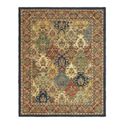 Safavieh - Detailed Rug with Strong Cotton Backing (9 ft. 6 in. x 7 ft. 6 in.) - Size: 9 ft. 6 in. x 7 ft. 6 in. Hand tufted. Made from wool. Multicolored. Made in India. With rich, luscious detailing and a vibrant feel, Safavieh's Heritage collection brings life to any space. Hand tufted of pure wool with strong cotton backing, these traditionally beautiful rugs can withstand even the most highly traveled areas of your home. Care Instructions: Vacuum regularly. Brushless attachment is recommended. Avoid direct and continuous exposure to sunlight. Do not pull loose ends; clip them with scissors to remove. Remove spills immediately; blot with clean cloth by pressing firmly around the spill to absorb as much as possible. For hard-to-remove stains professional rug cleaning is recommended.