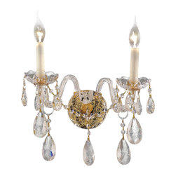 Elegant Lighting - Elegant Lighting 7829W2G/EC Gold Wall Sconces - Elegant Lighting 7829W2G/EC Alexandria Gold Crystal (clear) Wall Sconces