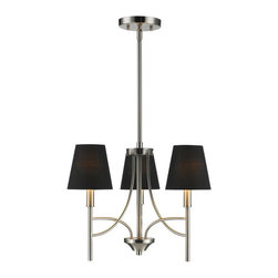 Golden Lighting - Golden Lighting 9106-M3 PW-GRM Mini Chandelier w/ Groom Shade - A classic form with modern details makes the Taylor collection a truly transitional style