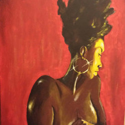 She Fancy (Original) by Timothy Baxter - The idea was simple.  Just to create an image of a natural African-American Woman, with no enhancements or processed hair.