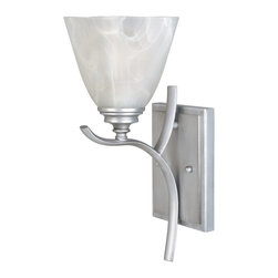 Designers Fountain - Designers Fountain 81901-MTP Bella Vista Transitional Wall Sconce - Your eye is immediately drawn to the glass featured in this collection: softly sculpted geometric square profiles. This bold yet elegant contour enhances the clean, transitional framework of oval tubing in a minimalistic fashion.