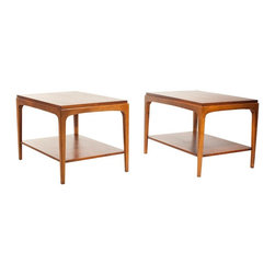 Lane - Consigned Mid Century Danish Modern Rhythm End Table Set - • Mid Century | Danish Modern