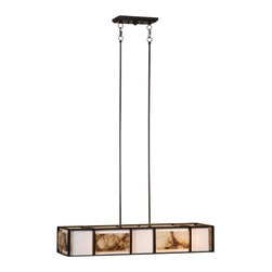 Uttermost Quarry 4Lt Oil Rubbed Bronze Chandelier - Oil rubbed bronze finished metal with an ivory linen inside shade that's surrounded by slabs of polished marble and a frosted glass diffuser. Slabs of marble over an ivory shade create a simple linear feeling that works with a broad range of looks, effective whether contemporary, transitional, or rustic.