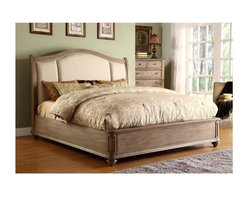 Riverside Furniture - Sleigh Bed Set in Weathered Driftwood Finish - Choose Size: Queen