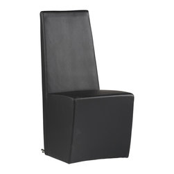 Chintaly - Modern Modular Upholstered Dining Chairs - Se - Includes two Chairs. Fully upholstered contemporary chair. Black upholstery. Minimal assembly required. Side Chair: 19 in. W x 25 in. L x 40 in. H