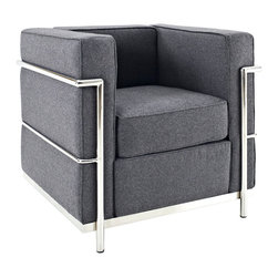 Charles Wool Armchair - Urban life has always a quandary for designers. While the torrent of external stimuli surrounds, the designer is vested with the task of introducing calm to the scene. From out of the surging wave of progress, the most talented can fashion a force field of tranquility.