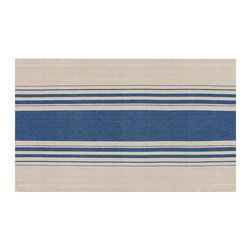 KAF Home - Cote Herringbone Stripe Placemat - Navy/Flax, Set of 4 - These artistically designed placemats are made using an elegant herringbone stitching. Stripes complement a more modern decor, yet are appropriate for both a casual and formal setting.