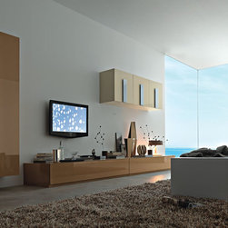 TV Furniture - Simple lines to rapture your quests. Amazing views, ocean and sky through your window displaying nothing but beauty and grandeur. Picture yourself  watching TV in absolute peace, surrounded by the sleekest built-ins that graciously display all your favorite items. No room for stress, soft colors that match your unique taste.  As many compartments and shelves as you wish. We have all you needs met. Give us your walls and we'll carve the perfect home theater. Entertainment units  beyond the horizon. A signature collection designed to match your smart taste.