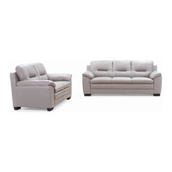 New Spec - Leather Sofa and Love Seat - Top Grain Leather. High Density Foam Material. 82.68 in. W x 35.83 in. D x 35.83 in. H (325 lbs)