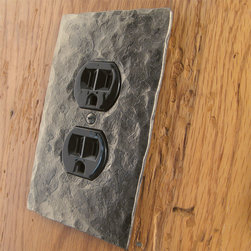 Black Turtle Home Accessories - This is a single gang wall plate with an opening for one standard Plug/Outlet.