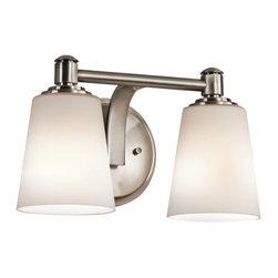 "Kichler - Kichler 45454CLP Quincy 12.5"" Wide 2-Bulb Bathroom Lighting Fixture - Product Features:"