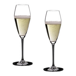 Riedel - Riedel Vinum Extreme Champagne Glasses - Set of 2 - Lead crystal, machine-made. Recommended for: Cava, Champagne, Champagne Cocktail, Kir, Sekt, Sparkling Wine, Vintage Champagne, Vintage Sparkling Wine.