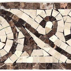 Stone & Co - Dark Emperador Marble - Crema Marfil Polished Art Border - Finish: Polished