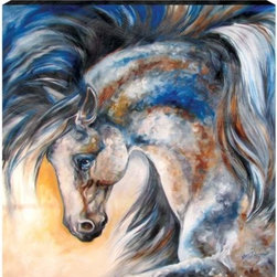 WL - Midnight Spirit Theme Wall Art Painting with White Stallion Design - This gorgeous Midnight Spirit Theme Wall Art Painting with White Stallion Design has the finest details and highest quality you will find anywhere! Midnight Spirit Theme Wall Art Painting with White Stallion Design is truly remarkable.
