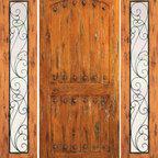 """Door With Two Sidelights Exterior Prehung Knotty Alder, Clavos - SKU#SW-62-52_1-2BrandAAWDoor TypeExteriorManufacturer CollectionWestern-Santa Fe Entry DoorsDoor ModelDoor MaterialWoodWoodgrainKnotty AlderVeneerPrice2584Door Size Options[30""""+2(18"""") x 80""""] (5'-6"""" x 6'-8"""")  $0[32""""+2(18"""") x 80""""] (5'-8"""" x 6'-8"""")  $0[36""""+2(18"""") x 80""""] (6'-0"""" x 6'-8"""")  +$20[42""""+2(18"""") x 80""""] (6'-6"""" x 6'-8"""")  +$110[30""""+2(18"""") x 96""""] (5'-6"""" x 8'-0"""")  +$526.4[32""""+2(18"""") x 96""""] (5'-8"""" x 8'-0"""")  +$526.4[36""""+2(18"""") x 96""""] (6'-0"""" x 8'-0"""")  +$556.4[42""""+2(18"""") x 96""""] (6'-6"""" x 8'-0"""")  +$756.4Core TypeSolidDoor StyleRusticDoor Lite StyleFull LiteDoor Panel StyleHome Style MatchingSouthwest , Log , Pueblo , WesternDoor ConstructionTrue Stile and RailPrehanging OptionsPrehungPrehung ConfigurationDoor with Two SidelitesDoor Thickness (Inches)1.75Glass Thickness (Inches)1/4Glass TypeSingle GlazedGlass CamingGlass FeaturesGlass StyleGlass TextureClearGlass ObscurityDoor FeaturesDoor ApprovalsDoor FinishesDoor AccessoriesClavosWeight (lbs)850Crating Size25"""" (w)x 108"""" (l)x 52"""" (h)Lead TimeSlab Doors: 7 daysPrehung:14 daysPrefinished, PreHung:21 daysWarranty1 Year Limited Manufacturer WarrantyHere you can download warranty PDF document."""