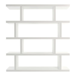 Temahome - Step High, Pure White - Get ready for Step, a statement piece in the shape of a shelving unit. With two size options, the Step is finished on all sides, meaning you can set it against a wall or use as a room divider with plenty of space for storage.
