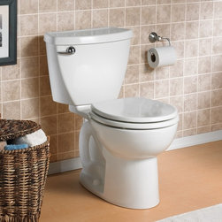 """American Standard Cadet 3 Right Height Flowise RF Toilet 10"""" - Smarter design for higher performance and fewer clogs – all at a great price. The Cadet® 3 series toilets come in a variety of styles; one piece and two piece models, elongated and round front bowls, right height and compact versions and even water efficient models that flush on just 1.28 gallons per flush. The Cadet 3 is a hard working versatile series with superior performance."""