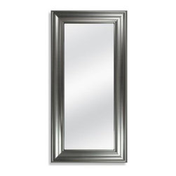 Mcs Industries, Inc. - 8 x 20-Inch Accent Mirror in Brushed Nickel Finish - This accent mirror will bring shine to any room in your home. It has a brushed nickel finish and can hang horizontally or vertically.