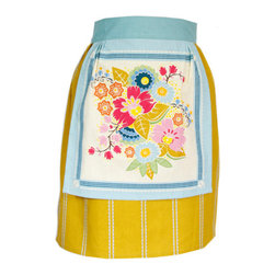 Citrus Square Half Apron - I love everything about this apron: the yellow cloth, the flowers and the price.