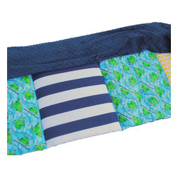 Janiebee Quilted Nap Mats - Toad'ly Cool Quilted Nap Mat by Janiebee - The Thickest, Safest Nap Mat available!