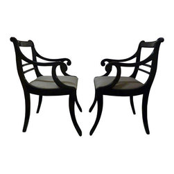 50's Italian Lacquered Klismos Chairs- A Pair - $1,400 Est. Retail - $650 on Cha -