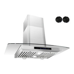 GOLDEN VANTAGE - GV 36-Inch Stainless Steel Wall Range Hood W/Carbon Filter For Ductless Option - Our Contemporary Europe design range hoods capture the most pollutants, grease, fumes, cooking odors in a quiet way but maintain a strong CFM From 300-900 depends on the style or model you choose. GV products not only provide top notch quality of material, we also offer led lighting, quiet chamber blower,adjustable telescopic chimney. All of our range hoods can convert to ventless/ductless options if outside exhaust not permitted.