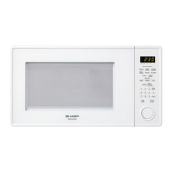 "Sharp - 1.3 Cu Ft 1000W Microwave with 12.75"" Turntable, Sensor - The Sharp Carousel R459YW 1.3 Cu. Ft. 1000W Countertop Microwave Oven, in white, makes cooking fast, easy and worry free. This roomy microwave oven has sensor cook options including potato, frozen entree and frozen vegetables. In addition to automatic settings for beverages, popcorn, reheating and defrosting, it features four soften options, an add 30-seconds key, and a convenient kitchen timer. Plus, the 12.75-inch Carousel turntable system assures even cooking and the child safety lock keeps little ones safe."