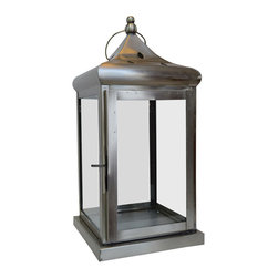 "BrandWave - Hurricane Lantern, large, Pewter - Although they are traditionally used to house a variety of candles, don""t be afraid to decorate outside the box and put anything on display in this stunning hurricane lantern."