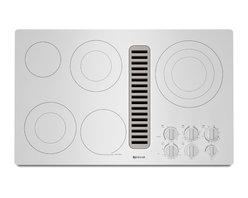 "Jenn-Air 36"" Electric Radiant Downdraft Cooktop, Frost White 