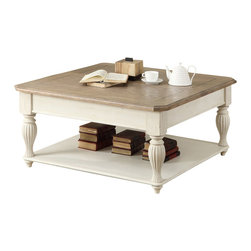 Riverside Furniture - Riverside Furniture Coventry Two Tone Cocktail Table in Dover White - Riverside Furniture - Coffee Tables - 32501 - Riverside's products are designed and constructed for use in the home and are generally not intended for rental, commercial, institutional or other applications not considered to be household usage.
