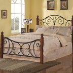 Wood with Metal Queen Headboard & Footboard - Coaster Co. -