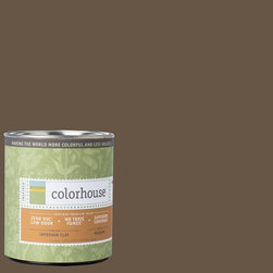 Inspired Flat Interior Paint, Clay .06, Quart - Colorhouse paints are zero VOC, low-odor, Green Wise Gold certified and have superior coverage and durability. Our artist-crafted colors are designed to be easy backdrops for living. Colorhouse paints are 100% acrylic with no VOCs (volatile organic compounds), no toxic fumes/HAPs-free, no reproductive toxins, and no chemical solvents.