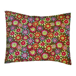 SheetWorld - SheetWorld Twin Pillow Case - Percale Pillow Case - Floral Brown - Made in USA - Twin pillow case. Made of an all cotton woven fabric. Side Opening. Features a beautiful floral print on a brown background.