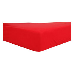 Mezoome - Mezoome Fitted Egyptian Cotton Crib Sheet, Red - A fitted crib sheet available in four vibrant fun colors.