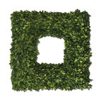 Constance Lael-Linyard - Constance Lael-Linyard Preserved Boxwood Square Wreath X-90106 - Preserved while freshly picked, natural evergreen foliage looks and feels like living boxwood.