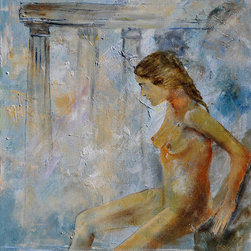 overstockArt.com - Ledent - Roman bathing - Roman bathing is a canvas print of a modern Ledent painting portraying a woman in a roman spa. Originally oil on canvas stretched on a wooden frame size 15,7 x 19,7 inches. Pol Ledent was born in 1952 in Belgium. He came to painting in 1989. He started with watercolor but felt rapidly that oil painting would match his way of being. He is a self-taught painter . Nevertheless he took some drawing lessons in a Belgian academy. After taking part into numerous group exhibitions, some galleries in Belgium proposed to him to exhibit his works. Dinant, Bouillon, Brussels , Paris and Moscow in October 2006.