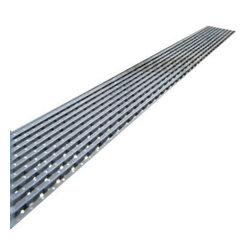 "Quartz by Aco - Quartz by Aco Linear Drain Linear Wedge Design, 28"", Flange Body - Quartz Flange Edge Linear Shower Drain Linear Wedge Design"