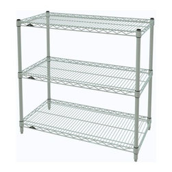 InterMetro Industries - Metro Shelving Unit - 36x14x33 - As the original wire storage shelving system and still the industry leader, Metro shelving continues to evolve and aims to meet the diversity of todays storage challenges. These professional grade units hold more weight. The three (3) shelves can be positioned, or re-positioned, at precise 1 increments along the length of the posts.  Open wire design minimizes dust accumulation and allows for free circulation of air and greater visibility of stored items. Casters (sold separately) available for mobile applications. This post-based shelving system, created in 1965, is recognized worldwide as the most popular commercial shelving system ever.  Assembly required