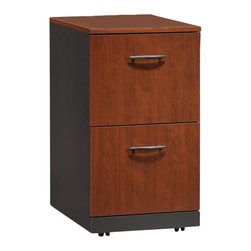 Sauder - Sauder Via 2 Drawer Pedestal in Classic Cherry - Sauder - Filing Cabinets - 401444 - Sure lots of office and home furnishing manufacturers can help you create an organized comfortable and fashionable place to live. But Sauder provides a special kind of furniture that is practical and affordable as well as attractive and enduring. As North America's leading producer of ready-to-assemble furniture we offer more than 500 items that have won national design awards and generated thousands of letters of gratitude from satisfied consumers. Features: