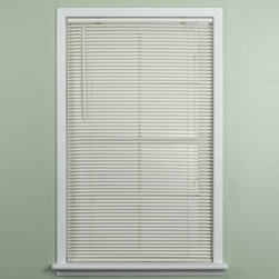 Achim Importing Co. - Deluxe Sundown 1-Inch Room Darkening Mini Blind in Alabaster - Mini blinds have additional slats and an advanced design with tighter closure that provides maximum room darkening and privacy. Blinds are specially formulated to minimize dust and feature a safety cord device.
