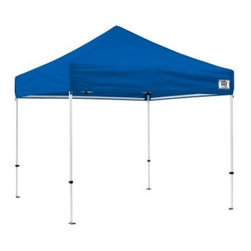 Impact Canopy DS Instant Canopy Kit - The Impact Canopy DS Instant Canopy Kit with exclusive Impact Thumb-lock Sliders is ideal for sporting events, farmer's markets, or a day at the beach! Take some shade wherever you go with this 10 x 10-foot canopy! This kit comes with a 4-leg powder-coated steel frame, canopy top in your choice of blue or white, and a universal rope and spike kit so set-up is quick and easy. The Impact Canopy DS Instant Canopy measures 120L x 120W x 132H inches and features a 500-denier polyester fire-retardant fabric top.About Impact CanopyImpact Canopy (formally called Caravan Canopies Canada Inc.) is one of the only manufacturers who can offer the complete canopy program and with a tag line that promises The Next Level you know to expect the best! Formed in 1999, Impact Canopy has over 10 years of experience in the industry as a manufacturer and distributer of canopies and canopy accessories. Not only that, but they are the only true North American Instant Canopy brand with offices in the US and Canada providing the entire globe with the best in instant canopy options. Experience next level innovation, customer service, technology, product support, and design with Impact Canopy.