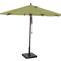 Greencorner - 11' Octagon Mahogany Umbrella, Lime Green - 11' Octagon