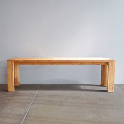 MASH Studios - PCH Bench - MASH Studios - Made from solid teak, this sturdy bench is available in two different lengths and goes perfectly with the PCH dining table or as stand alone seating.