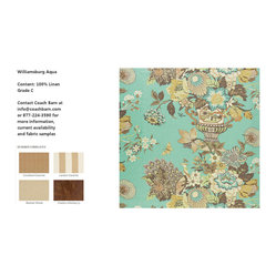 Williamsburg Aqua Upholstery Fabric - CB Upholstered Collection