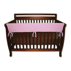 Trend Lab - Trend Lab Rail Cover - Long Pink Fleece - 109077 - Shop for Crib Bumper Pads from Hayneedle.com! The Trend Lab Rail Cover - Long Pink Fleece gives your little girl's crib a little more color while protecting her from injury at the same time. The convertible crib rail cover is made from super-soft Sherpa fleece so it's safe for your baby and it protects the crib from teeth marks. Plus it's lightly padded with a waterproof layer so it will last. Just wrap and tie it to secure it to the crib rail. The pink color is perfect for baby girls. Trend Lab will replace any defective products within 30 days of original purchase. Dimensions: 51L x 18W x 1H inches.About Trend LabBegun in 2001 in Minnesota Trend Lab is a privately held company proudly owned by women. Rapid growth in the past five years has put Trend Lab products on the shelves of major retailers and the company continues to develop thoroughly tested high-quality baby and children's bedding decor and other items. With mature professionals at the helm of this business Trend Lab continues to inspire and provide its customers with stylish products for little ones. From bedding to cribs and everything in between Trend Lab is the right choice for your children.