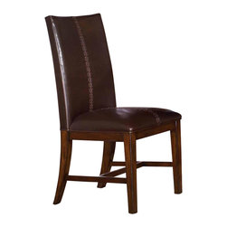 A-America - Mesa Parsons Side Chair w Upholstered Back - Set of 2 - Set of 2. South American antique style. Upholstered seat. Hand stitched. Two toned design. Solid construction. Made from solid mahogany. Aged mahogany finish. 22.25 in. W x 18.25 in. D x 40.5 in. H (22.6 lbs.)