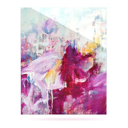 "Kess InHouse - Iris Lehnhardt ""Magenta"" Pink Paint Metal Luxe Panel (16"" x 20"") - Our luxe KESS InHouse art panels are the perfect addition to your super fab living room, dining room, bedroom or bathroom. Heck, we have customers that have them in their sunrooms. These items are the art equivalent to flat screens. They offer a bright splash of color in a sleek and elegant way. They are available in square and rectangle sizes. Comes with a shadow mount for an even sleeker finish. By infusing the dyes of the artwork directly onto specially coated metal panels, the artwork is extremely durable and will showcase the exceptional detail. Use them together to make large art installations or showcase them individually. Our KESS InHouse Art Panels will jump off your walls. We can't wait to see what our interior design savvy clients will come up with next."